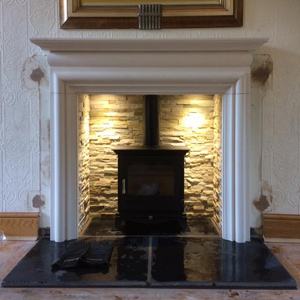 Chesneys Beaumont 5 Series Stove with Gallery Asquith Fireplace