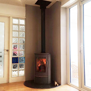 Lotus Liva Wood Burning Stove Fitted in Hale