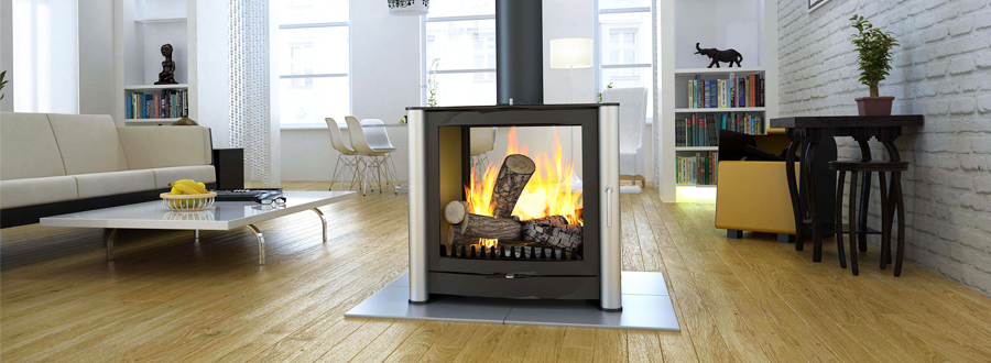 Double Sided Wood Burning Stoves