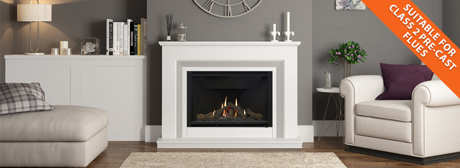 More choice of fireplaces - even if you have a Class 2 Pre-Cast flue