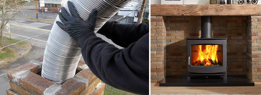 The importance of fitting a flue liner with a wood burning stove
