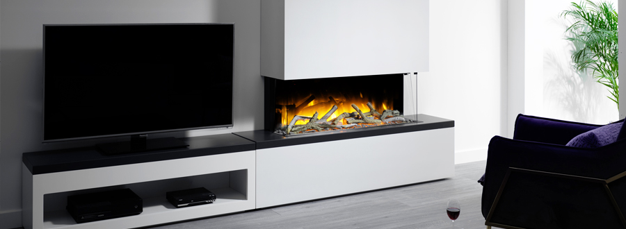 Electric Fire with TV