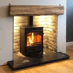 Fireline FX5W Multi-Fuel Stove with Fireplace Beam