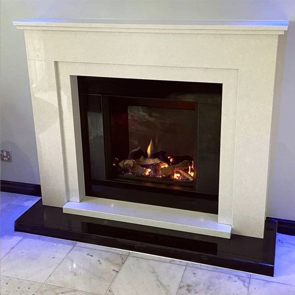 Custom Fireplace with Gazco Gas Fire Manchester