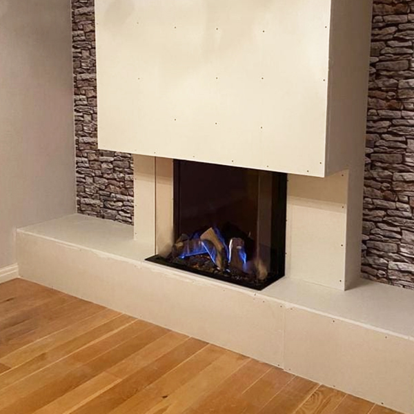 Gazco Reflex Gas Fire in Custom Wall Fitted in Manchester