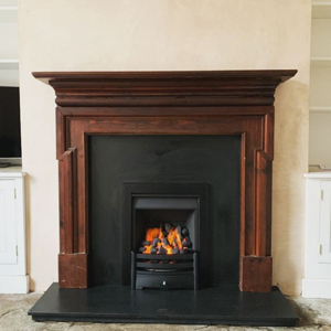 Legend Gas Fire In Wooden Fireplace